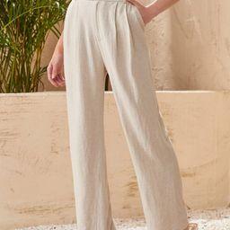 SHEIN High Waist Straight Leg Pants | SHEIN