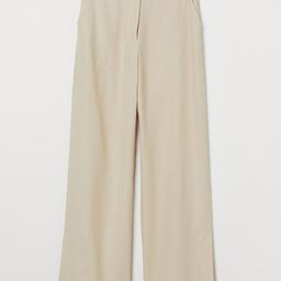 Wide-cut Side-slit Pants | H&M (US)