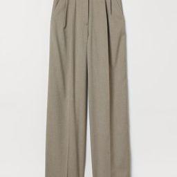 Wide-leg Creased Pants | H&M (US)