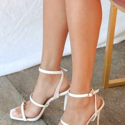 Leticiya White Ankle-Strap High Heel Sandals | Lulus (US)