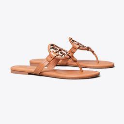 Miller Metal-Logo Sandal, Leather | Tory Burch (US)