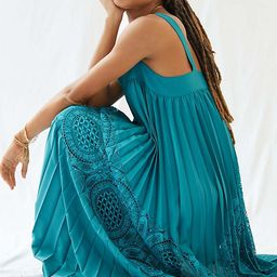 Pleated Lace Maxi Dress | Anthropologie (US)