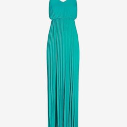 Pleated Side Cut-Out Maxi Dress | Express