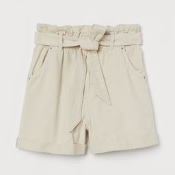 Denim Paper-bag Shorts | H&M (US)