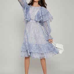 MOTF PREMIUM LAYERED RUFFLE FLOWY DRESS | SHEIN