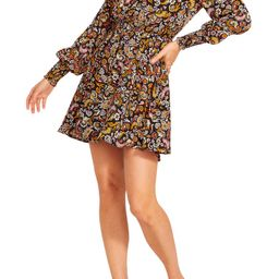 BB Dakota x Steve Madden Asheville Petal Paisley Long Sleeve Minidress | Nordstrom | Nordstrom