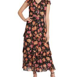Tahari ASL Floral-Print Cascading Ruffled Maxi Dress   & Reviews - Dresses - Women - Macy's | Macys (US)