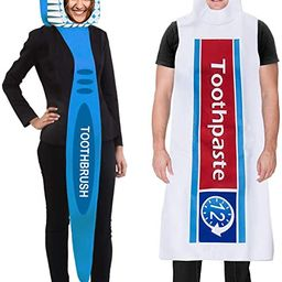 Couples Costumes - Toothbrush and Toothpaste Costume - 2 Pc Set - Halloween Dress Up - Funny Cost...   Amazon (US)