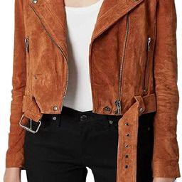 [BLANKNYC] womens Real Suede Moto Jacket   Amazon (US)