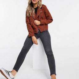 JDY faux suede jacket in red   ASOS (Global)