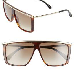 62mm Oversize Flat Top Sunglasses   Nordstrom Rack