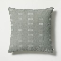 "24"" x 24"" Dash Stripe Throw Pillow Green - Hearth & Hand™ with Magnolia   Target"