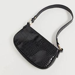 ASOS DESIGN croc effect 90s shoulder bag in black   ASOS   ASOS (Global)