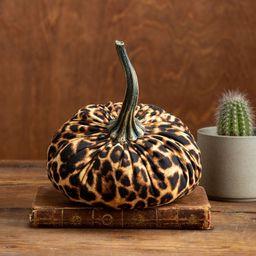 Large Fabric Pumpkin Leopard Print, modern farmhouse decor, rustic home decor, country decor, fal... | Etsy (US)