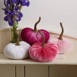 Small Velvet Pumpkins Set of 4, pink velvet, glam home decor, wedding decor, baby shower decor, c... | Etsy (US)