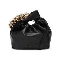 Santa Monica Chain Leather Top Handle Bag | Saks Fifth Avenue