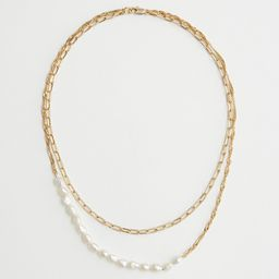 Pearl Pendant Duo Chain Necklace | & Other Stories