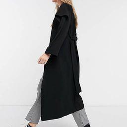 ASOS DESIGN soft waterfall duster coat in black | ASOS | ASOS (Global)