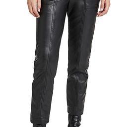 Tessa Vegan Leather Tie Waist Pants   Shopbop