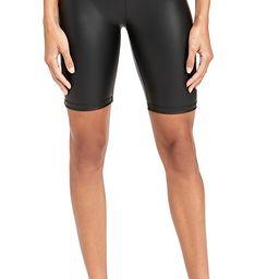 Faux Leather Biker Shorts   Shopbop
