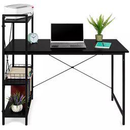 Best Choice Products 48in Computer Desk & 4-Tier Shelf, Modular Workstation, Home Office Furnitur... | Target