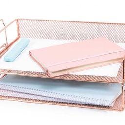 Rose Gold 2 Tier Paper Tray Desk Organizer | Pier 1 Online