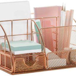 Rose Gold 6 Compartment Desk Organizer | Pier 1 Online