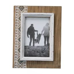 White Southwest Motif 4x6 Inch Wood Decorative Picture Frame - Foreside Home & Garden   Target