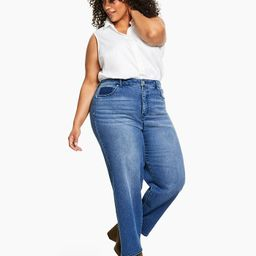 Style & Co Plus Size High-Rise Mom Jeans, Created for Macy's & Reviews - Jeans - Plus Sizes - Mac... | Macys (US)
