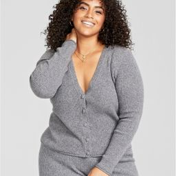 Charter Club Plus Size Cashmere Ribbed Boyfriend Cardigan, Created for Macy's & Reviews - Sweater... | Macys (US)