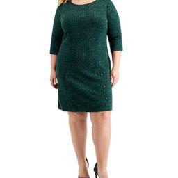 Connected Plus Size Knit Sheath Dress & Reviews - Dresses - Plus Sizes - Macy's | Macys (US)