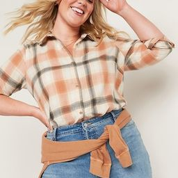 Long-Sleeve Plaid Flannel Shirt for Women   Old Navy (US)