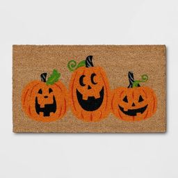 """1'2""""x2'2"""" Jack-O-Lantern Halloween Doormat Orange - Threshold™   Target"""