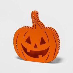 Backlit Orange LED Flickering or Steady-on Jack-O'-Lantern Halloween Lighted Decor - Hyde &#3...   Target
