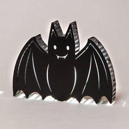 LED Backlit Flicker Bat Sign Halloween Novelty Silhouette Lights White - Hyde & EEK! Boutique™ | Target