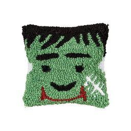 """C&F Home 8"""" x 8"""" Frankenstein Petite Hooked Halloween Throw Pillow   Target"""