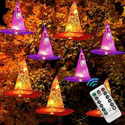 DAZZLE BRIGHT 8 Pcs Hanging Witch Hat String Lights, Light Up Waterproof Halloween Decorations wi...   Amazon (US)