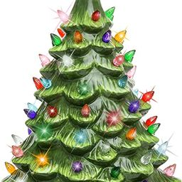 Best Choice Products 15in Pre-lit Hand-Painted Ceramic Tabletop Christmas Tree Holiday Decoration... | Amazon (US)