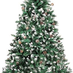 Loneywall Christmas Tree,7.5 FT Snowy Pine Cone Artificial Christmas Tree with Sturdy Metal Stand... | Amazon (US)