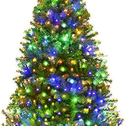 Goplus 6FT Pre-Lit Artificial Christmas Tree Auto-Spread/Close up Branches 11 Flash Modes with Mu... | Amazon (US)