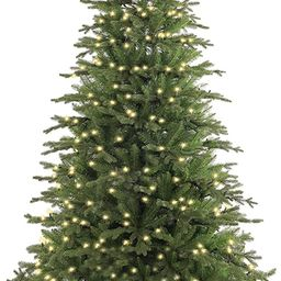 SINTEAN 7FT Pre-lit Christmas tree with1299 tips(60%PE/40%PVC), Fresh and ClassicalLayering Qui... | Amazon (US)