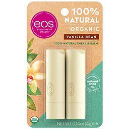 eos USDA Organic Lip Balm - Vanilla Bean   Lip Care to Moisturize Dry Lips   100% Natural and Glu...   Amazon (US)