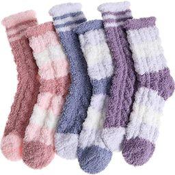Womens Fuzzy Socks Fleece Fluffy Cabin Plush Warm Sleep Soft Cozy Winter Adult Stocking Stuffers ...   Amazon (US)