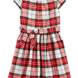 Plaid Sateen Holiday Dress | Carter's