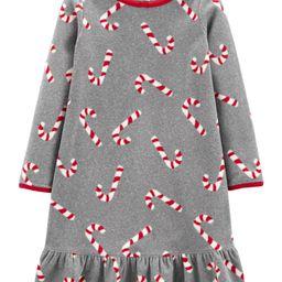 Candy Cane Fleece Nightgown | Carter's