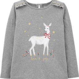 Christmas Deer Jersey Tee | Carter's