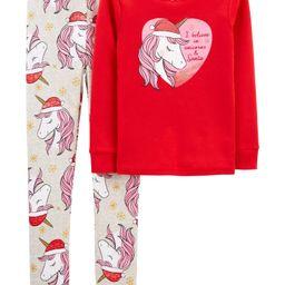 2-Piece Christmas Unicorn 100% Snug Fit Cotton PJs | Carter's