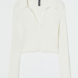 Collared ribbed top   H&M (UK, IE, MY, IN, SG, PH, TW, HK, KR)