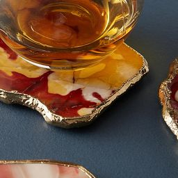 Precious Agate Coaster Set   Anthropologie (US)