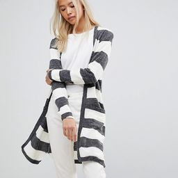 Blend She San Long Striped Knit Cardigan   ASOS US